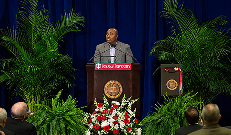 IUPUI University Hall dedication ceremony