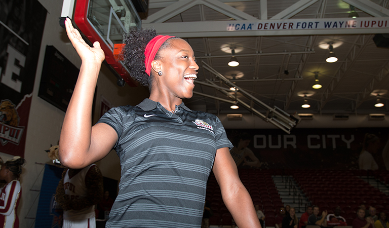 Senior Akilah Sims on IUPUI Women's Basketball Team at Basketball Tipoff Luncheon