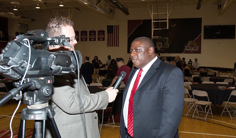 IUPUI Athletic Director Dr. Roderick Perry at Basketball Tipoff Luncheon