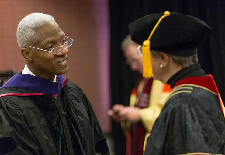 The installation of Nassar Paydar as chancellor of IUPUI