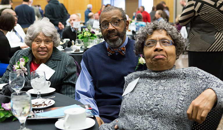 Members of the Taylor family at the IUPUI Taylor Symposium honoring the late Dr. Joseph P. Taylor