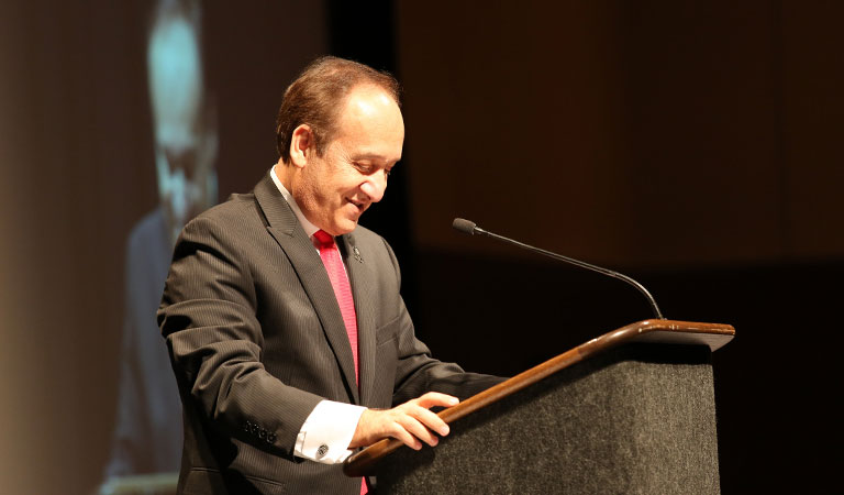 Chancellor Paydar speaks at the 9th Annual IUPUI Cesar Chavez Celebration Dinner