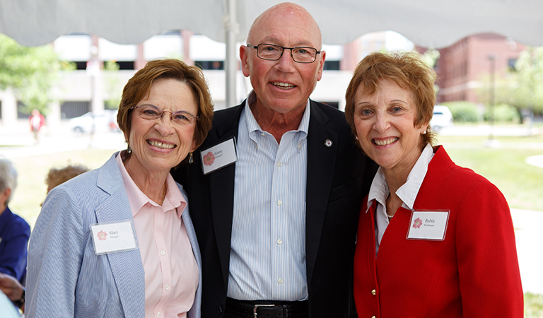 Dean Newhouse with Mary and Gene Tempel