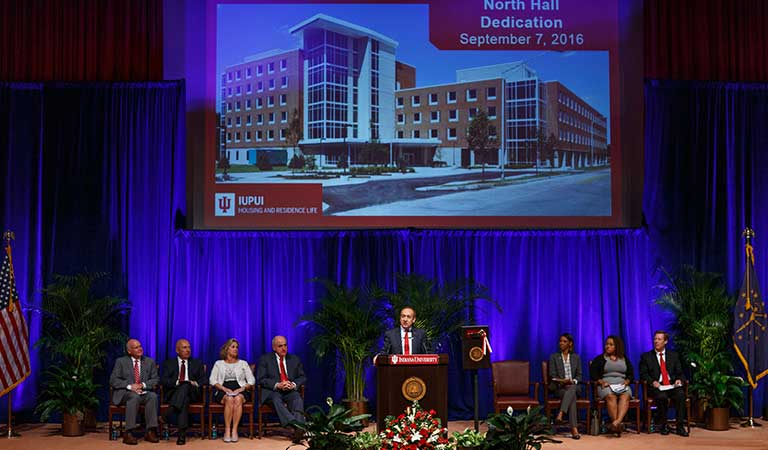 North Hall Dedication ceremony on the IUPUI campus 2016