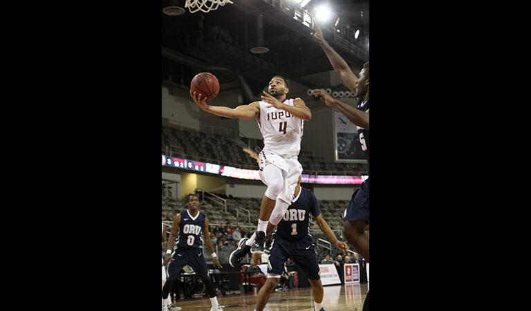 IUPUI men's basketball game against Oral Roberts University