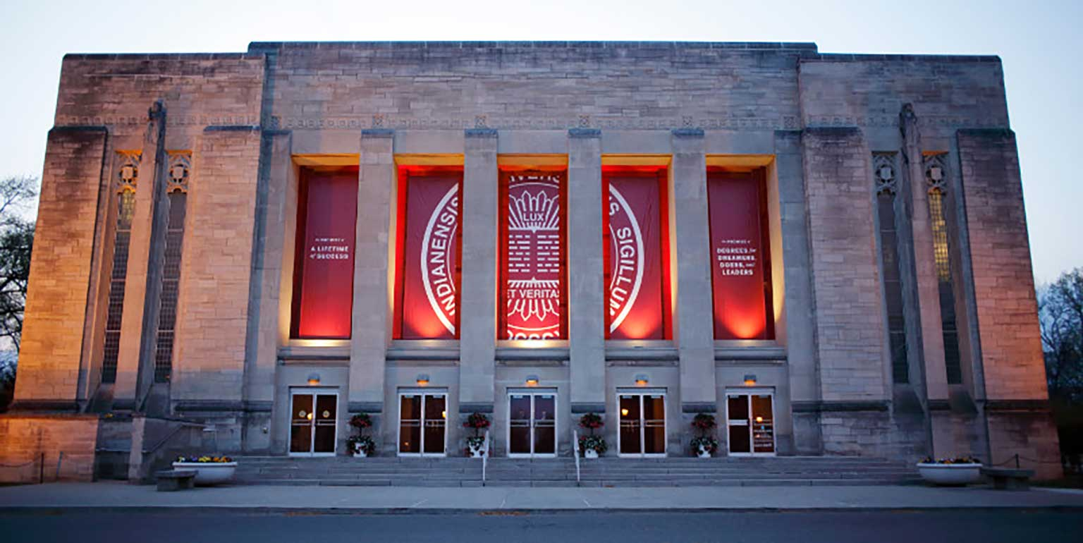 Indiana University Auditorium on the IU Bloomington campus.